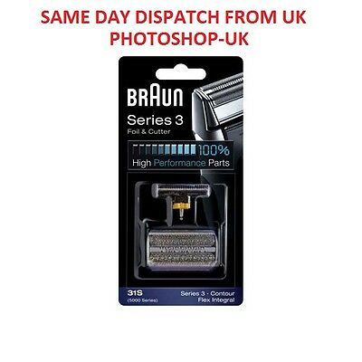 BRAUN 31S Replacement Foil + Cutter FOR SERIES 3 CONTOUR AND 5000 SERIES SHAVERS
