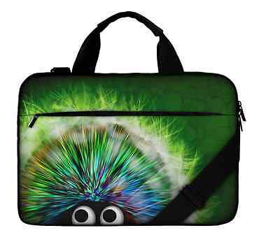 Silent Monsters Laptop Bag Case 17 inch Canvas With Pocket Green NEW Travel Bag