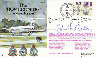 AC55 The Homecoming RAF Cover signed John McCarthy Terry Waite & Jackie Mann
