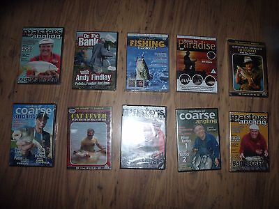 10 x COARSE FISHING DVDS BRAND NEW XMAS PRESENT SEE PICTURES FOR TITLES