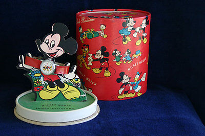 Disney 1952 Mickey Mouse Watch In Presentation Box