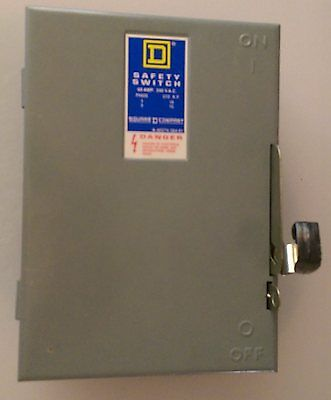 Square D Safety Switch DU322 Series E1, 60 AMP