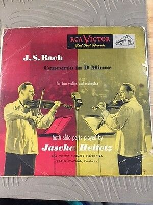 RCA Victor J.S. Bach Concerto in D minor Red Seal records (2)
