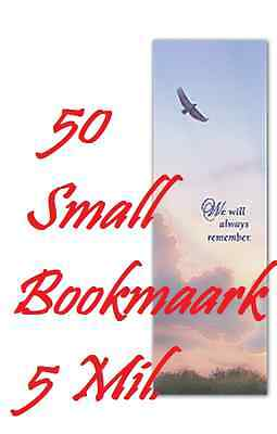 5 Mil BOOKMARK SMALL  Laminating Pouch Sheets  2-1/8 x 6  50 PK