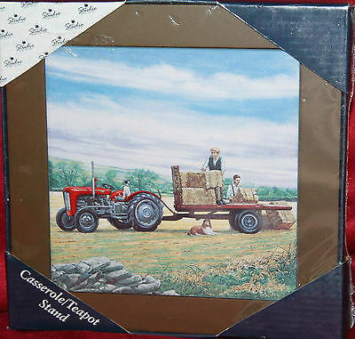 Borders Fine Arts Loading Up Casserole/teapot Stand A8620 Tractor Collie Dogs
