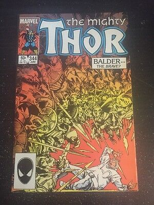 Mighty Thor#344 Awesome Condition 8.0(1984) 1st Malekith Appearence, Simonson !!