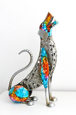 Large Metal Cat Dog Dragonfly Figurine Statue Home Decoration Perfect Gift Idea