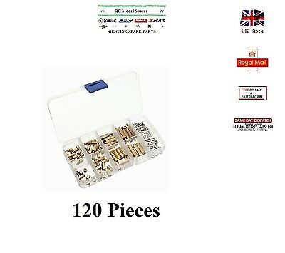 M3 120Pcs Brass PCB Hex Male-Female Threaded Spacer Stand off Screw Nuts Set Box