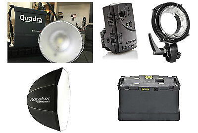 "Elinchrom Ranger Quadra Hybrid Kit: S-Head, 39"" Rotalux Deep Octa, 2 X Batteries"