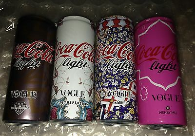 Coca Cola Light TURKEY VOGUE Turkish 4 Can of 250ml FULL  ZEYNEP TOSUN MEHRY MU