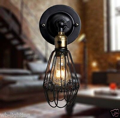 Antique Vintage Retro Wall Light Indoor Industrial Wall Lamp Dimmable Fitting