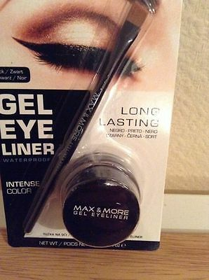 Eyeliner Gel Waterproof Noir Longue Tenue Blister