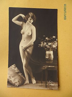 Original 1910's-1920's Postcard Nude Risque Gorgeous Lady Statue Like #108