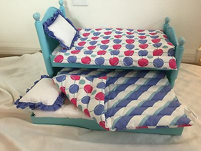 American Girl Bitty Twins Trundle Bed & Bedding *EUC* RETIRED!!