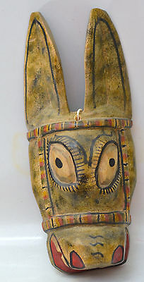 Donkey Mask = Hand Carved = Folk Art