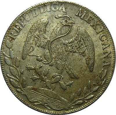 Mexico Forgery 1882 8 Reals