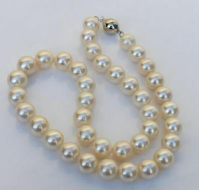 """18"""" HUGE AAA 10-11MM ROUND SOUTH SEA PINK PEARL NECKLACE 14K Gold Clasp"""