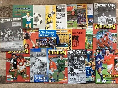collection of now defunt faw premier cup programmes