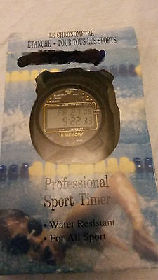 Professional Sports Timer Stopwatch - Water Resistant