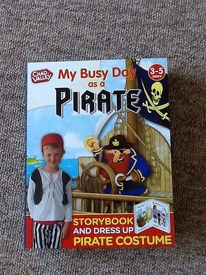 Dress up costume and book- My Busy Day as A Pirate Story Book And costume age3-5