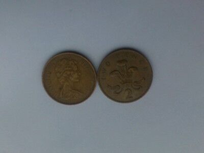 Two New Pence coin 1971 circulated