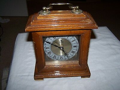 Highlands Wooden mantle Clock, Battery Powered