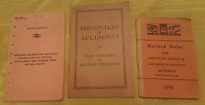 3 x vintage Railway books, revised rules, fault finding & prevention of accident