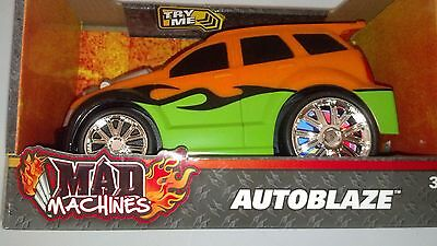 Mad Machines Autoblaze Orange/Green Sports Car with Lights and Sounds New 3+