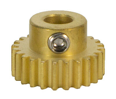 """24 Tooth, 32 Pitch, 1/4""""Bore Gearmotor Pinion Gear (#615250)"""
