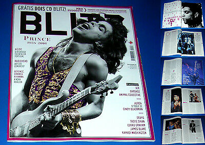 PRINCE, full magazine BLITZ, incl. cover + 12-page article, PORTUGAL, JUNE 2016