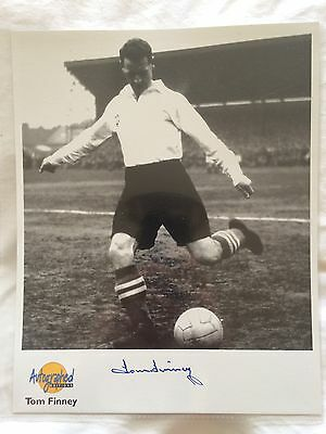 Tom Finney Preston North End Autographed Editions Photo - Westminster