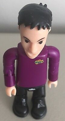 """The Wiggles Jeff purple Figure Big Red Car Jointed Figure 2003 3"""" Rare"""