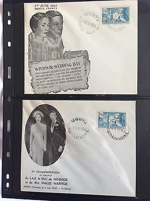 1937 (3rd June) Edward VIII Wedding Day illustrated cover Monts Collection