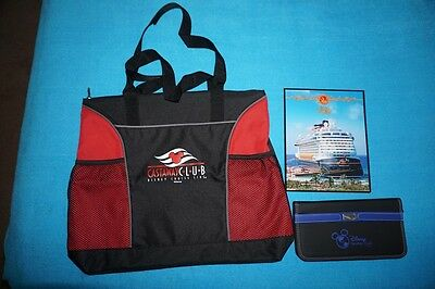 Disney Cruise Line Castaway Club Tote and Travel Document Holder – New