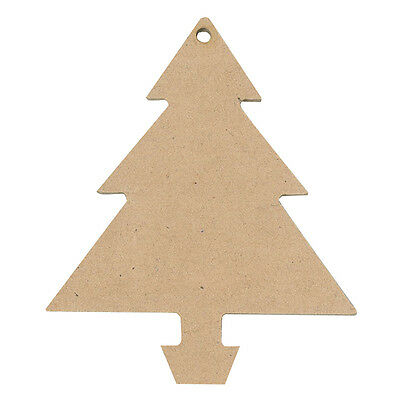 Wooden Christmas Tree Shapes  Pack of 12