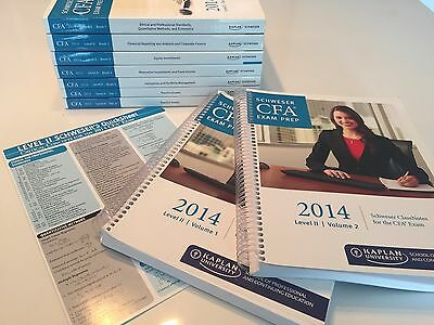 CFA Level 2 - 2014 Kaplan Schweser Study Notes, Practice Exams and QuickSheet
