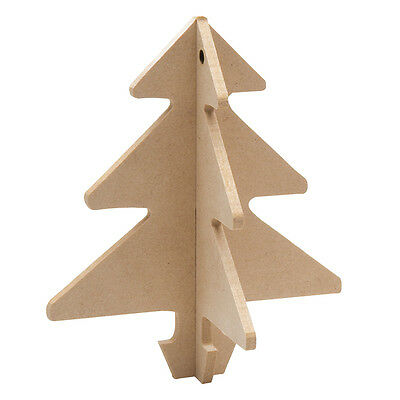 Wooden 3D Hanging Tree  Pack of 12