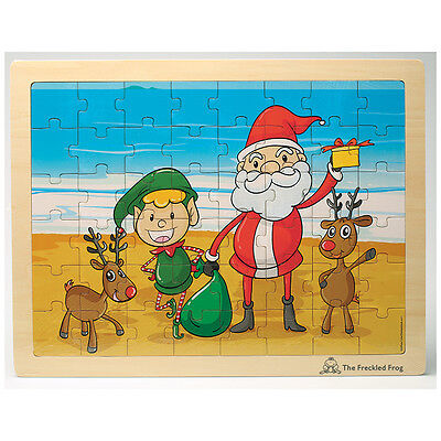 Summer Christmas Wooden Tray Puzzle