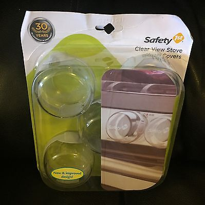 Safety 1st Clear View Stove Knob Covers 5 Pack NEW