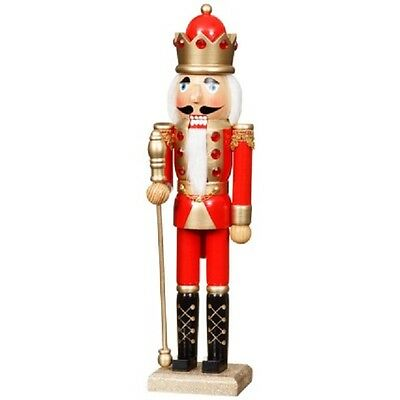 Christmas Nutcracker Wooden King Deluxe 38 Cms ...new!!