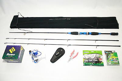 Sport combo! Double Tip Rod+10BB Reel+free-Pliers,Braided Line,Soft Baits(BLUE)