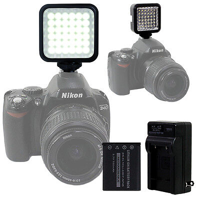 LED Video Light Lamp Battery Full Set for Canon Nikon Camera DV Camcorder US