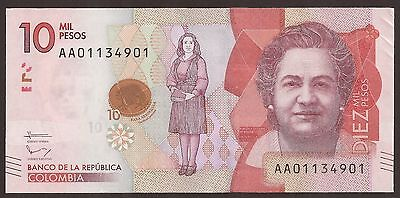 Colombia 10000 Pesos 2016 New Banknote