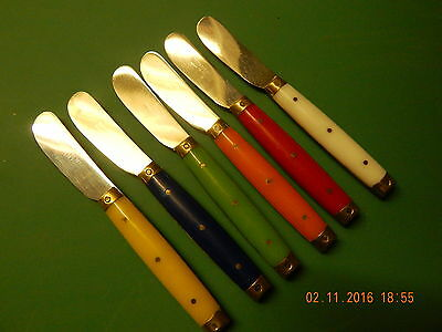 Set Of Six Vintage French Cheese/butter Spreaders