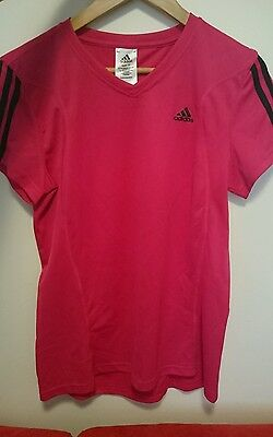 Pink Addidas Sports Top Shirt T size 14