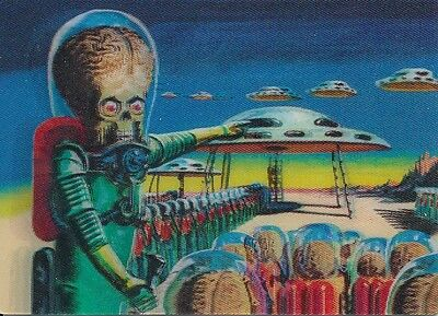 Topps Mars Attacks 3-Dimension Chase Card 1