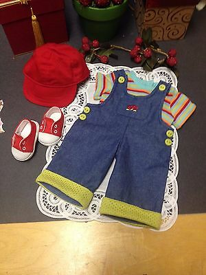 American Girl Toddler/ Bitty Baby Doll Outfit With Baseball Hat & Tennis Shoes!