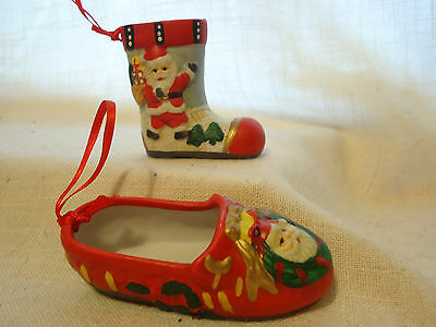 Collectible Christmas Ornaments Ceramic Boot & Slipper