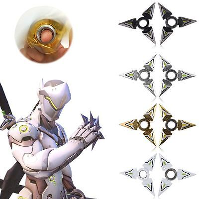 2Pcs Game Overwatch Genji Darts Alloy Model Rotatable Darts Cosplay Props