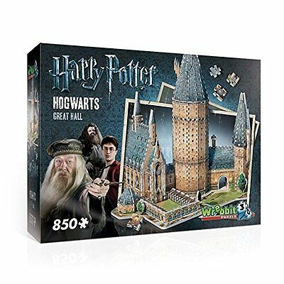 WREBBIT Hogwarts Great Hall 3D PUZZLE GAME, 850 Piece Harry Potter JIGSAW PUZZLE